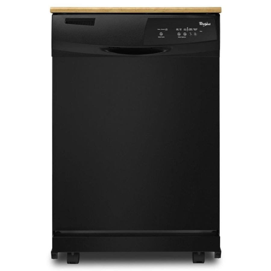 Whirlpool 24.125-in 55-Decibel Portable Dishwasher (Black)