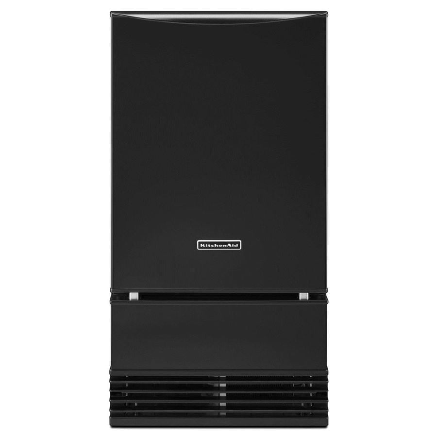 KitchenAid 50-lb Drop-down Freestanding/Built-In Ice Maker (Black)