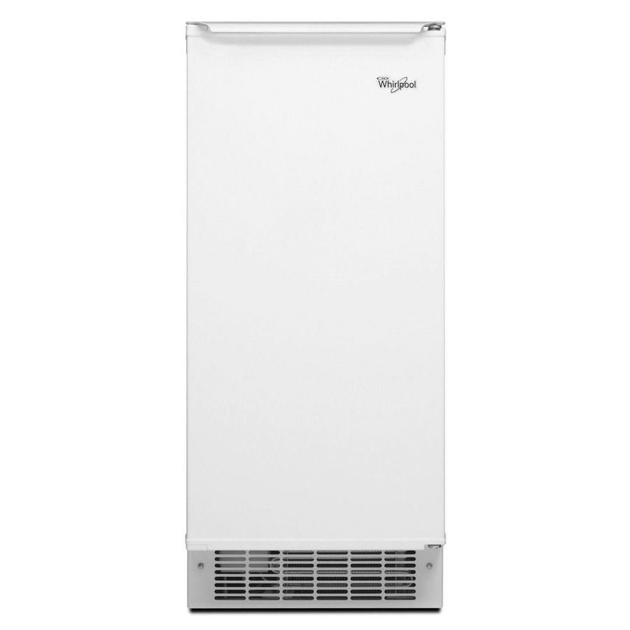 Whirlpool 50-lb Reversible Door Freestanding/Built-In Ice Maker (White-on-White)