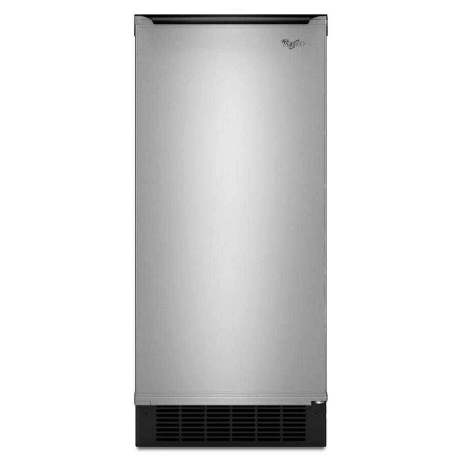 Whirlpool 50-lb Freestanding/Built-in Ice Maker (Stainless Steel)