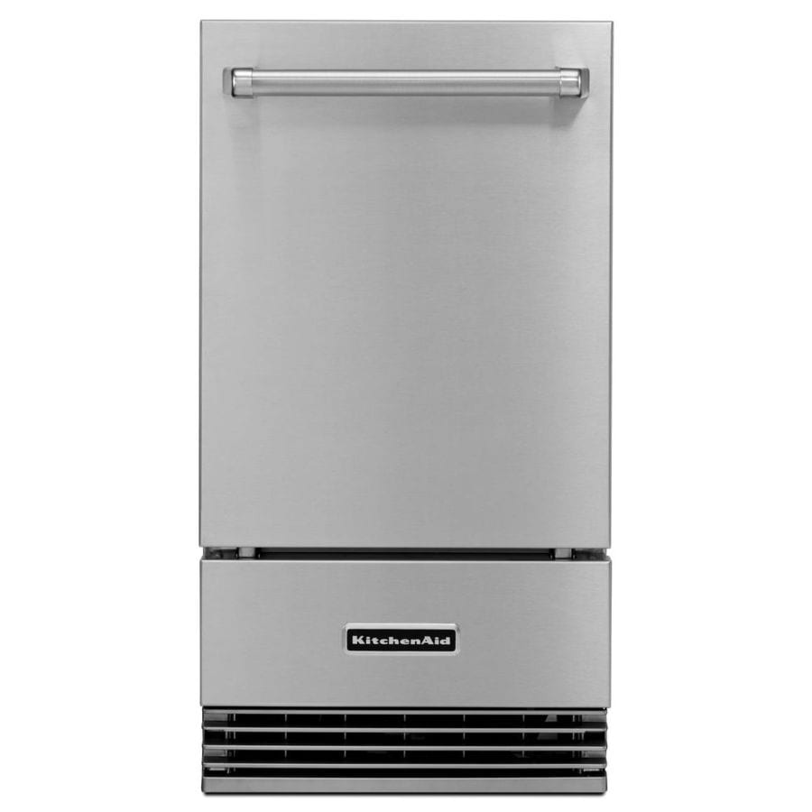 KitchenAid 50-lb Drop-down Freestanding/Built-In Ice Maker (Stainless Steel)