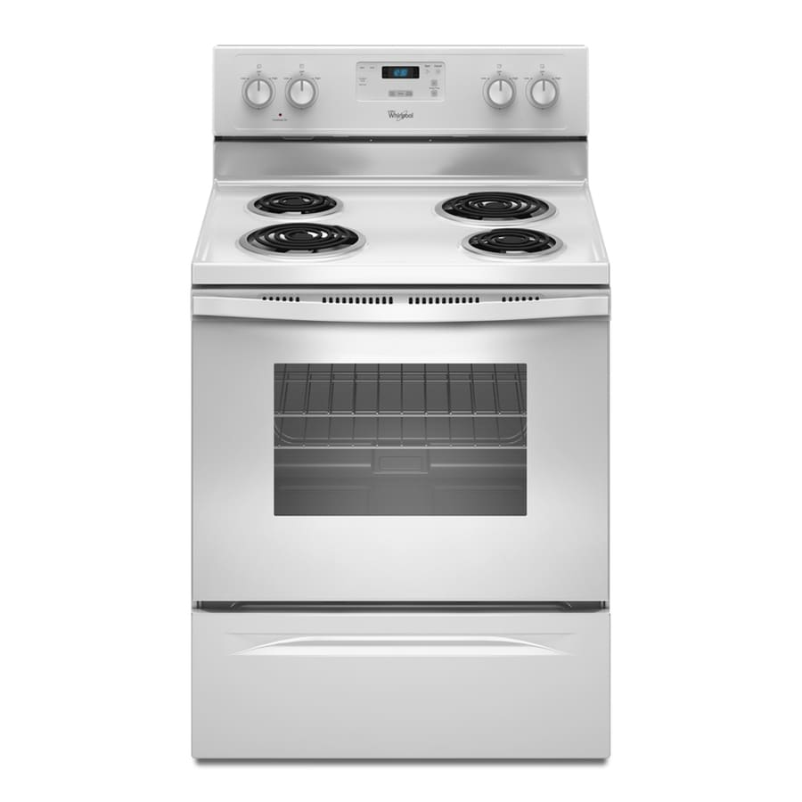 Whirlpool Freestanding 4.8-cu ft Electric Range (White) (Common: 30-in; Actual: 29.875-in)