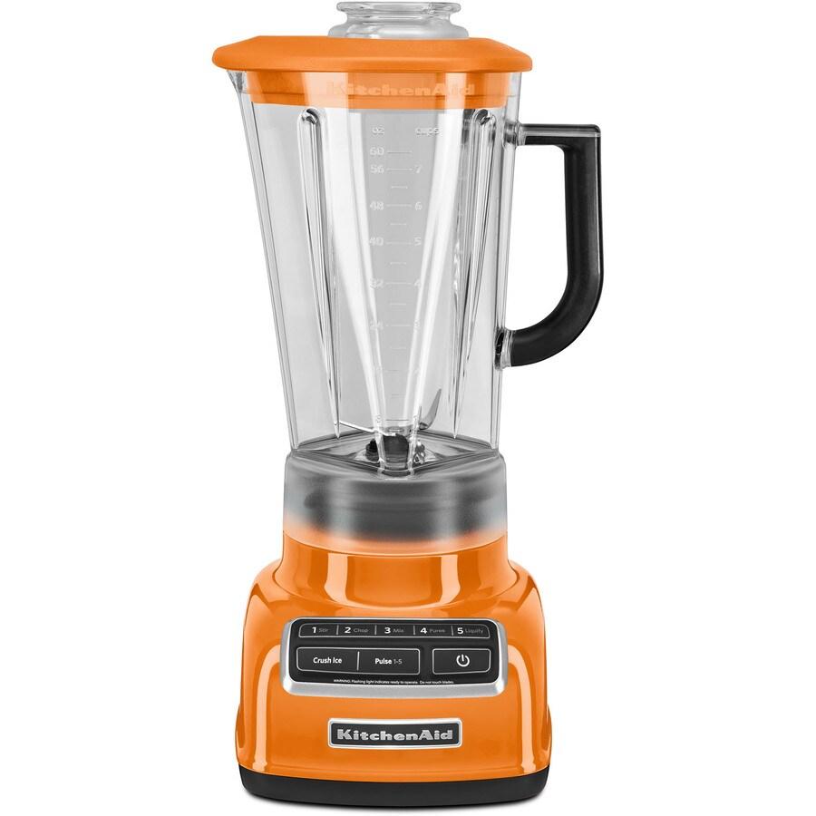 KitchenAid Diamond 60-oz Tangerine 5-Speed 630-Watt Pulse Control Blender