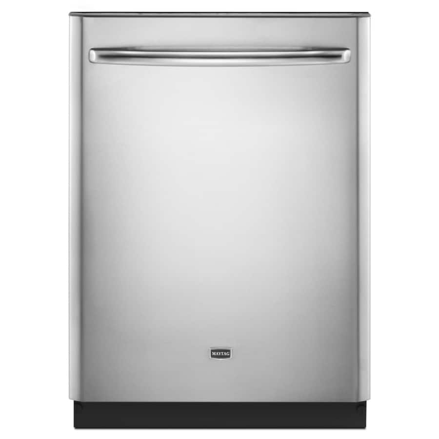 Maytag 50-Decibel Built-In Dishwasher (Monochromatic Stainless Steel) (Common: 24-in; Actual: 23.875-in)