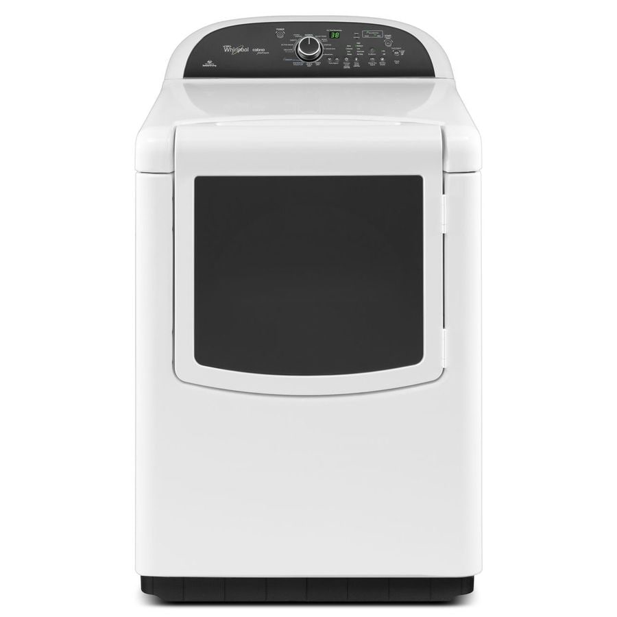 whirlpool cabrio 76cu ft electric dryer white