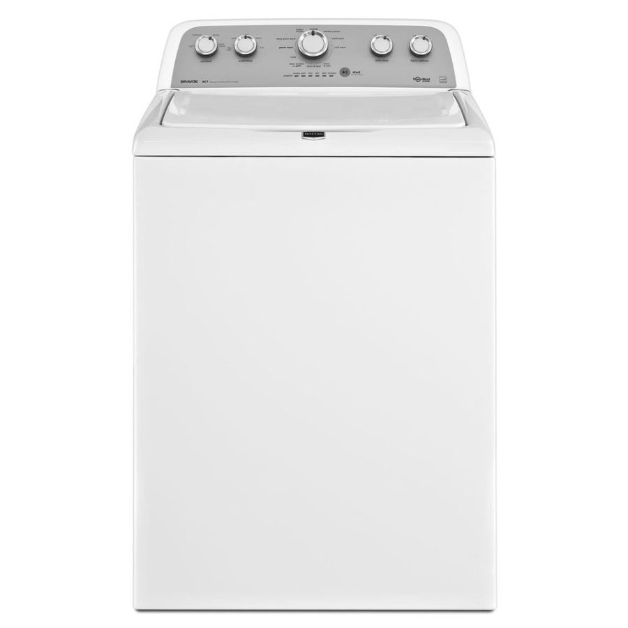 Maytag Bravos X 3.8-cu ft High-Efficiency Top-Load Washer (White)