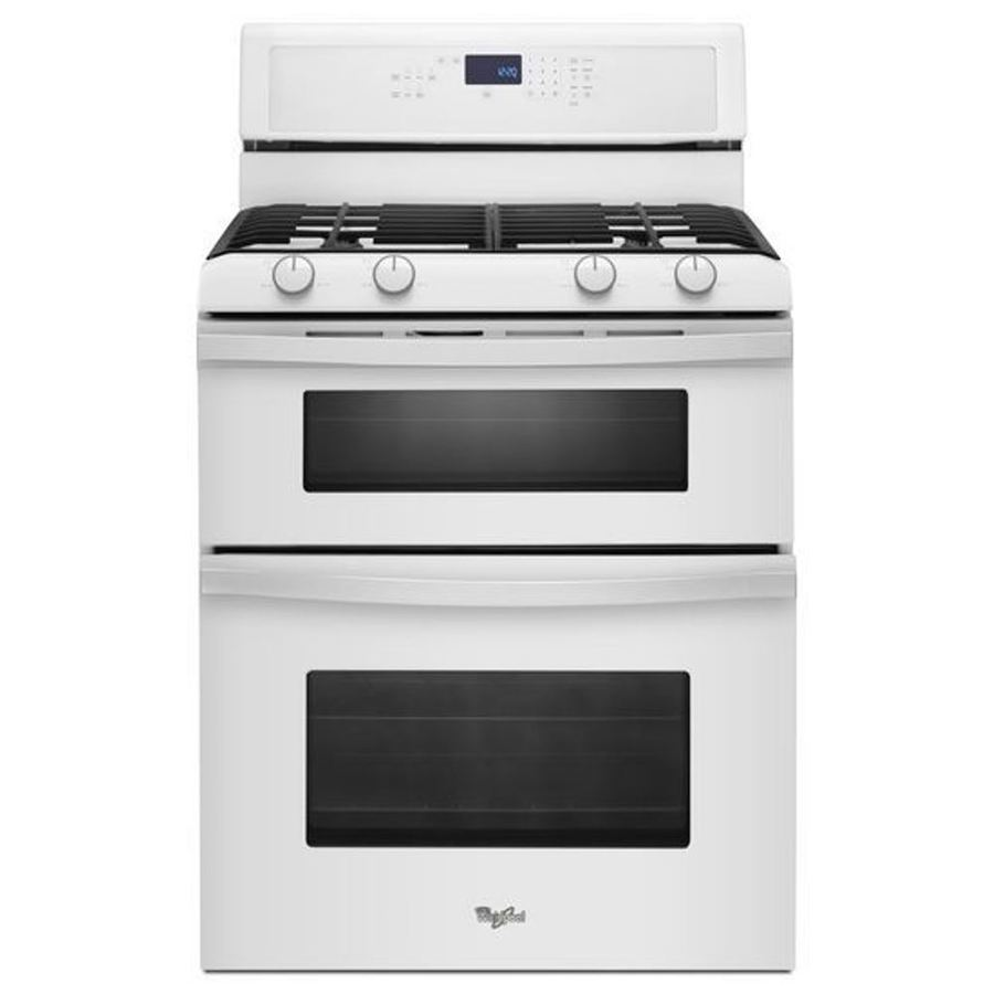 Whirlpool 30 In 39 Cu Ft21 Cu Ft Self Cleaning Double Oven Gas