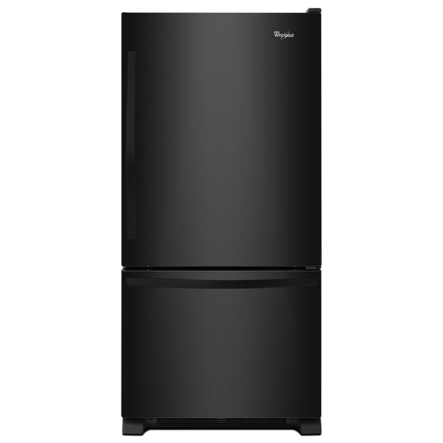 Whirlpool 22 07 Cu Ft Bottom Freezer Refrigerator With Ice