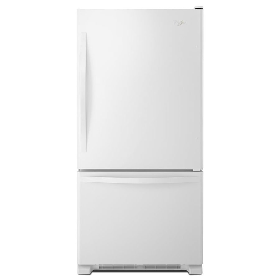 Whirlpool 18.7-cu ft Bottom-Freezer Refrigerator with Single Ice Maker (White) ENERGY STAR