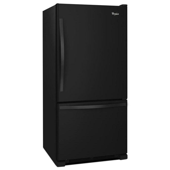 Whirlpool 18.7-cu Ft Bottom-Freezer Refrigerator With Ice