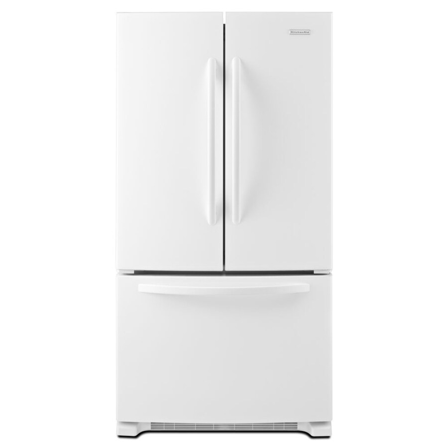 Shop kitchenaid architect ii 20 cu ft counter depth french door refrigerator with single ice - Kitchenaid architect counter depth refrigerator ...