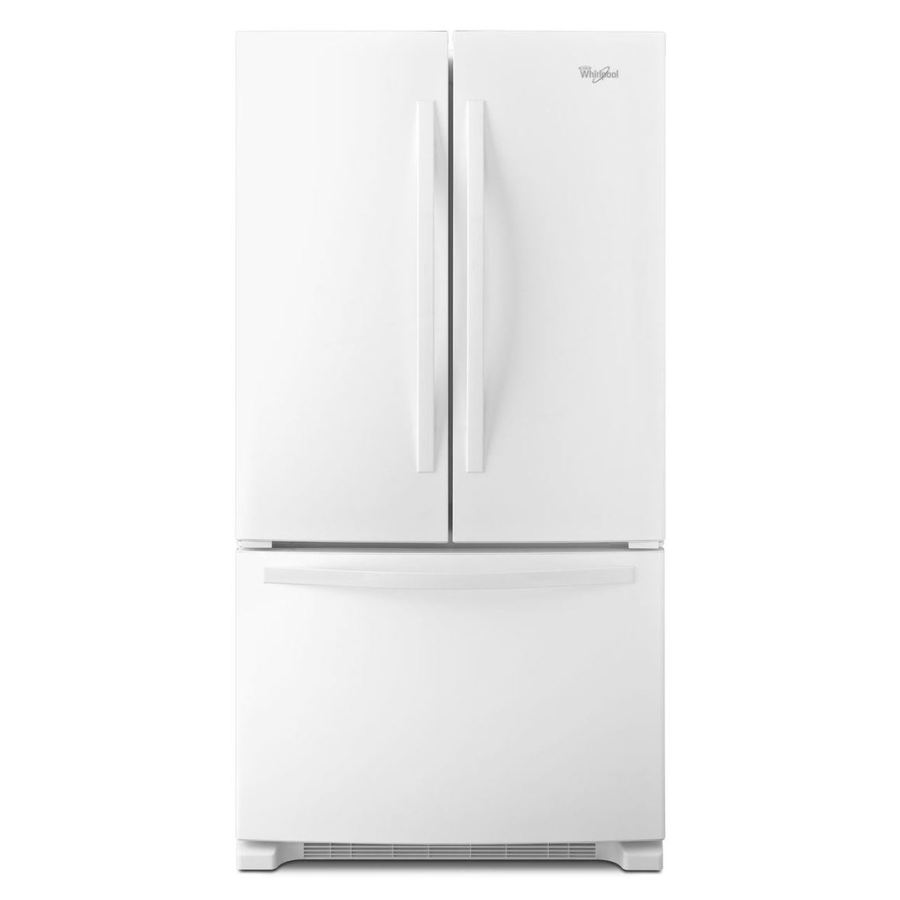 Whirlpool 22.1-cu ft French Door Refrigerator with with Single Ice Maker (White) ENERGY STAR