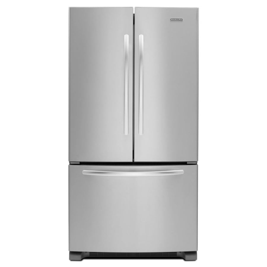 Kitchenaid 22 1 Cu Ft French Door Refrigerator With Ice: Shop KitchenAid Architect II 25.2-cu Ft French Door Refrigerator With Single Ice Maker