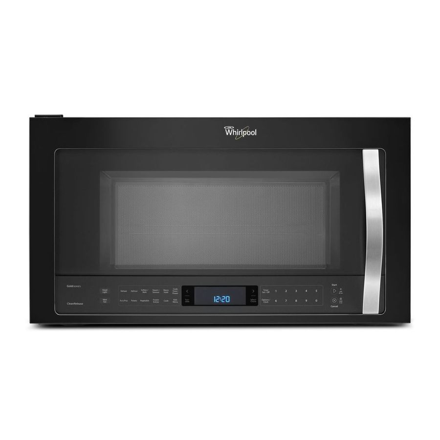 Whirlpool white ice over the range microwave - Whirlpool Black Ice 2 1 Cu Ft Over The Range Microwave With Sensor Cooking