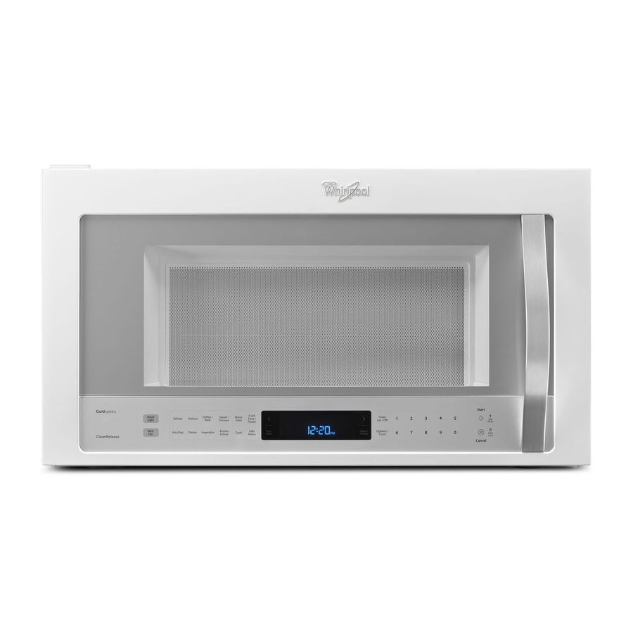 Whirlpool White Ice 2 1 Cu Ft Over The Range Microwave With Sensor Cooking