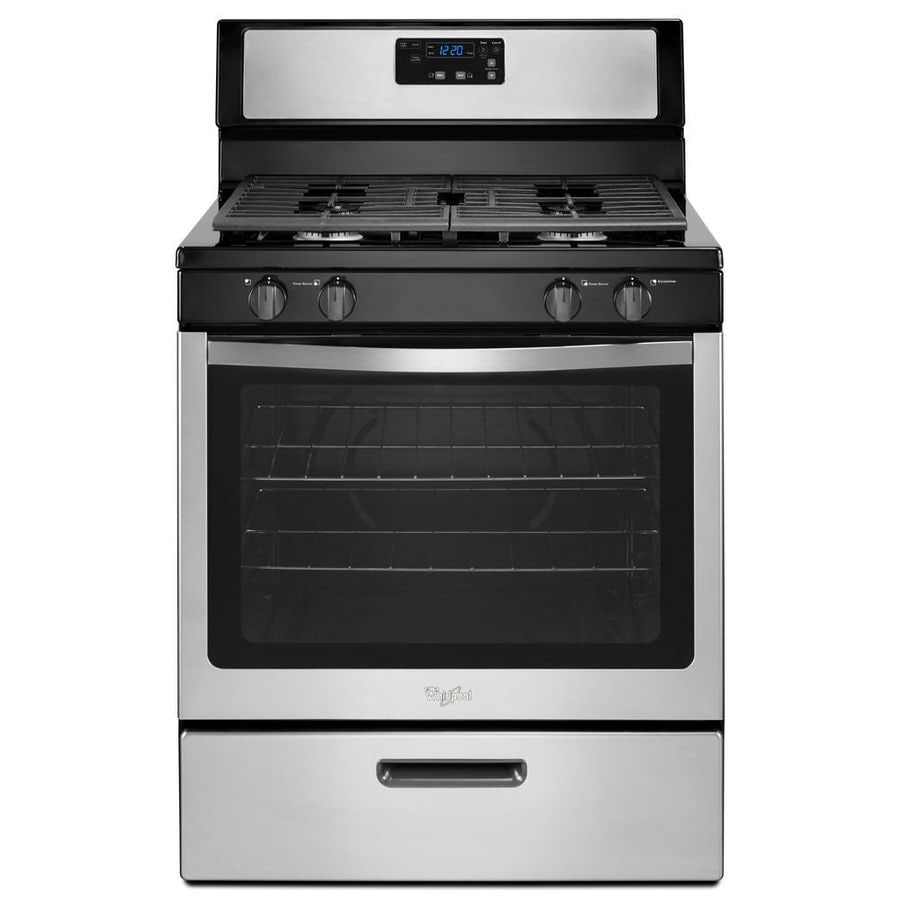 Shop Whirlpool Freestanding 5 1 Cu Ft Gas Range Stainless