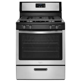 Whirlpool 5.1-cu ft Freestanding Gas Range (Stainless Steel) (Common: 30-in; Actual: 29.875-in)