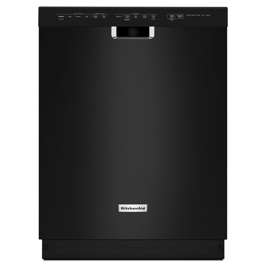 Shop KitchenAid 46-Decibel Built-In Dishwasher (Black) (Common: 24 ...