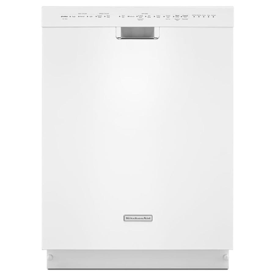 KitchenAid 45-Decibel Built-In Dishwasher (White) (Common: 24-in; Actual: 23.875-in)