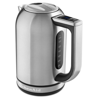 Brushed Stainless Steel 7-Cup Manual Electric Kettle
