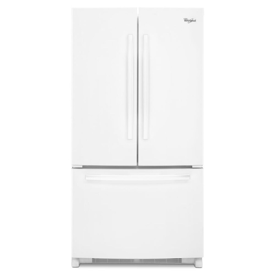 Whirlpool 20-cu ft Counter-Depth French Door Refrigerator with Ice Maker (White) ENERGY STAR