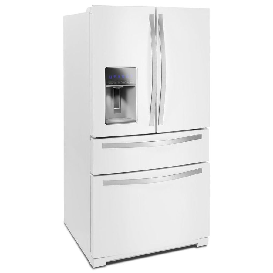 white french door refrigerator.