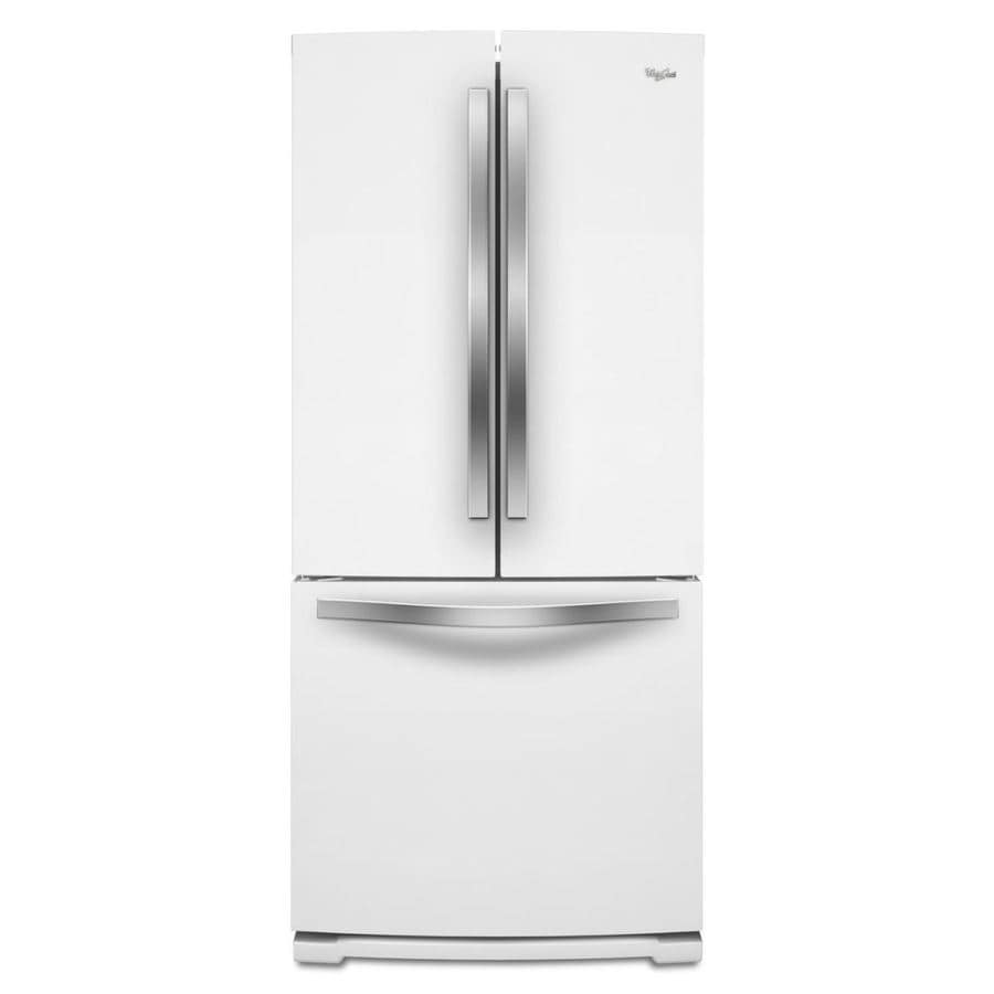 Lowes whirlpool white ice collection - Whirlpool White Ice 19 7 Cu Ft French Door Refrigerator With Ice Maker White Ice
