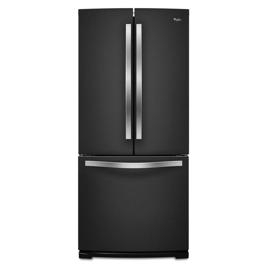 Whirlpool 19.7-cu ft French Door Refrigerator with Ice Maker (Black Ice)