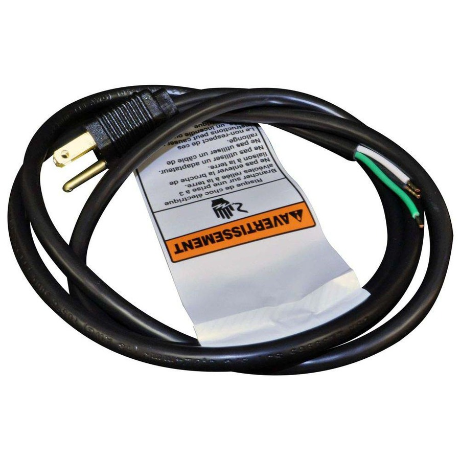 Shop Whirlpool 5-ft 2-Wire Black Range Hood Appliance Power Cord at ...
