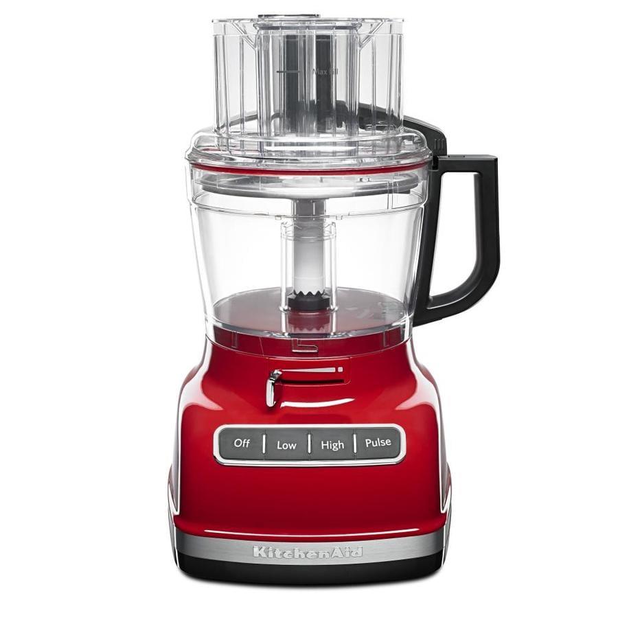 KitchenAid 11-Cup 360-Watt Empire Red 5-Blade Food Processor