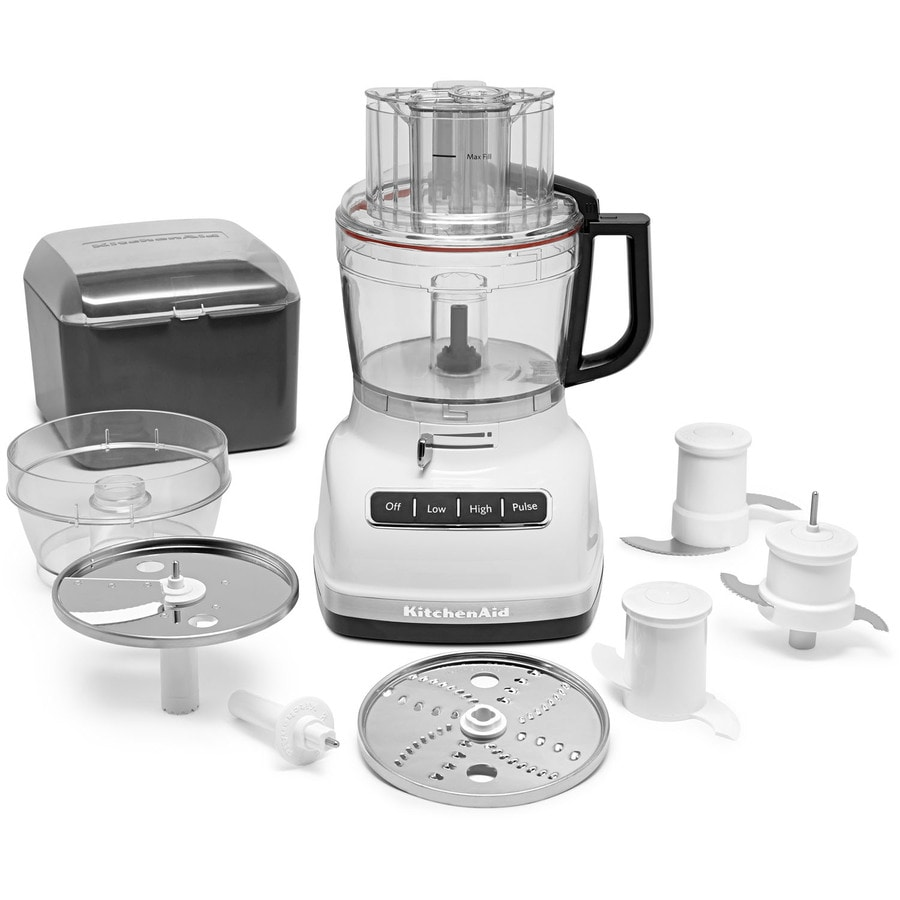 KitchenAid 11-Cup 360-Watt White 5-Blade Food Processor