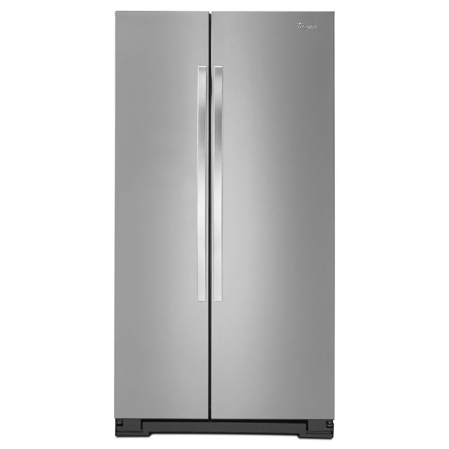 Whirlpool 24.9-cu ft Side-by-Side Refrigerator (Monochromatic Stainless Steel)