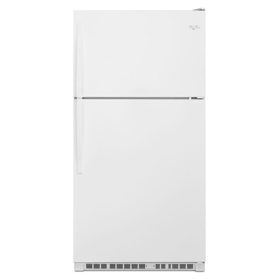 shop whirlpool 20 5 cu ft top freezer refrigerator white. Black Bedroom Furniture Sets. Home Design Ideas