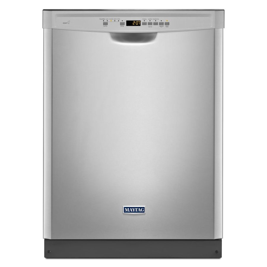 Maytag 50-Decibel Built-in Dishwasher with Hard Food Disposer (Monochromatic Stainless Steel) (Common: 24-in; Actual: 23.875-in) ENERGY STAR