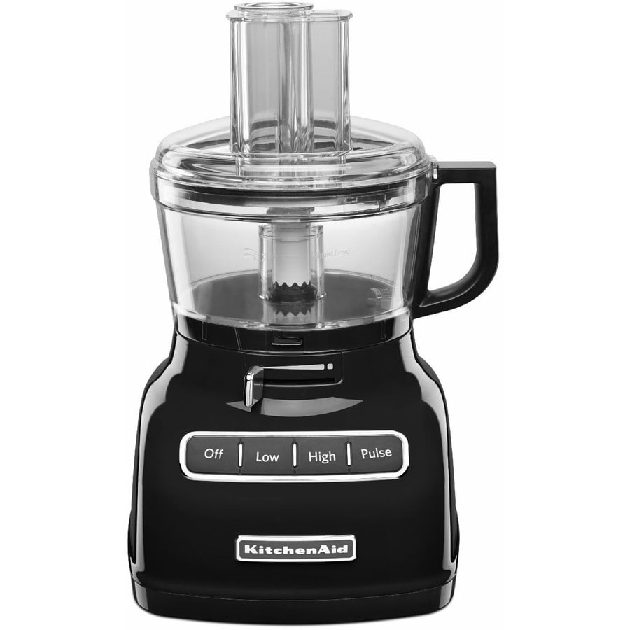 KitchenAid 7-Cup 360-Watt Onyx Black 3-Blade Food Processor