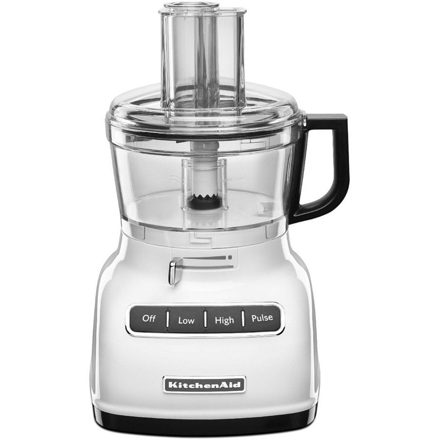 KitchenAid 7-Cup 360-Watt White 3-Blade Food Processor