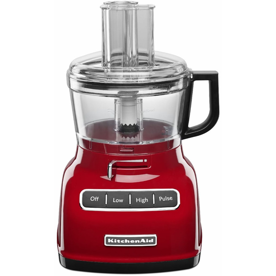 KitchenAid 7-Cup 360-Watt Empire Red 3-Blade Food Processor