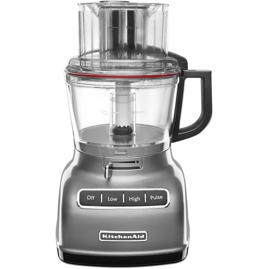 KitchenAid 9-Cup 360-Watt Contour Silver 5-Blade Food Processor