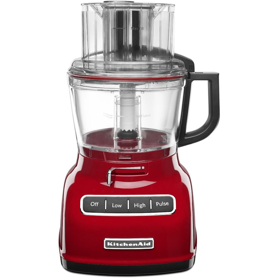 KitchenAid 9-Cup 360-Watt Empire Red 5-Blade Food Processor