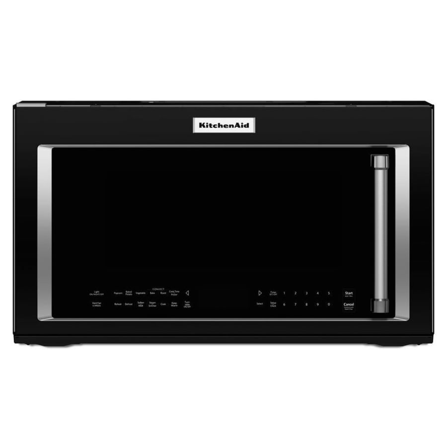 KitchenAid 1.9-cu ft Over-the-Range Convection Microwave with Sensor Cooking Controls (Black) (Common: 30-in; Actual: 30-in)