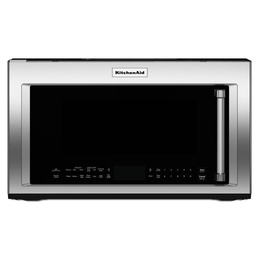 KitchenAid 1.9-cu ft Over-the-Range Convection Microwave with Sensor Cooking Controls and Speed Cook (Stainless Steel) (Common: 30-in; Actual: 29.875-in)