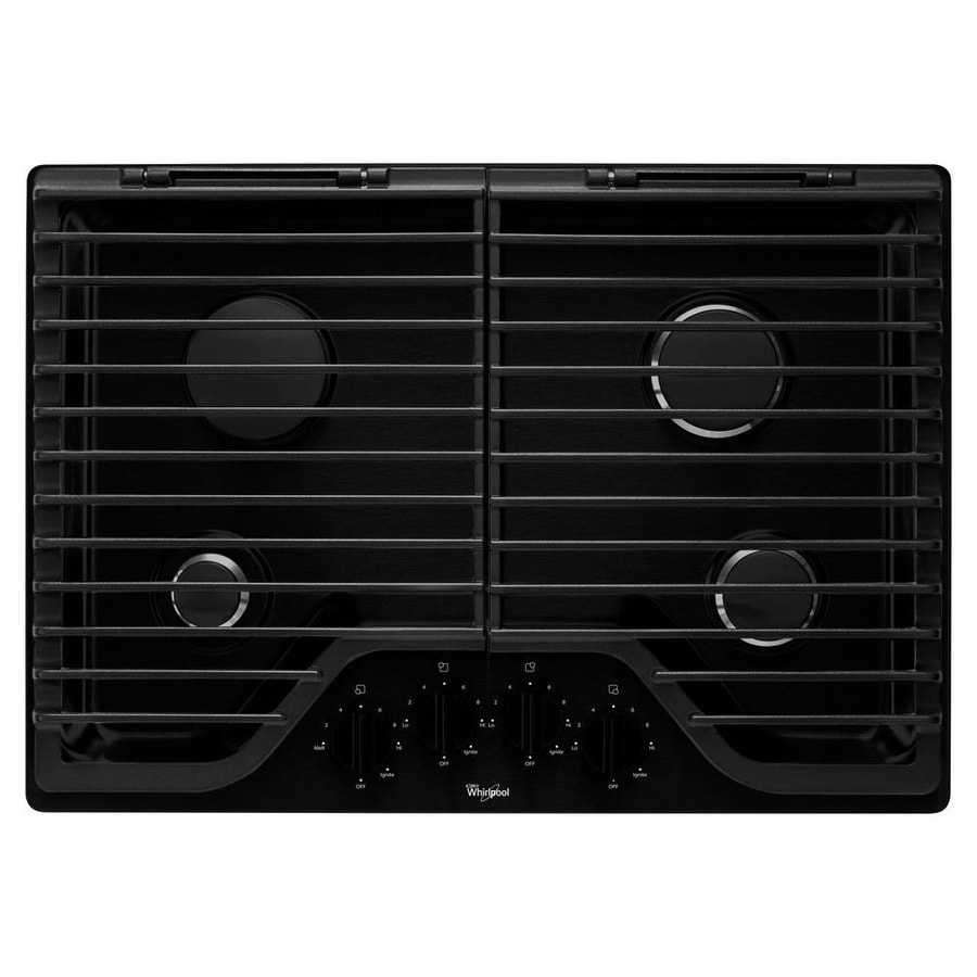 Whirlpool Gas Cooktop (Black) (Common: 30-in; Actual: 30-in)