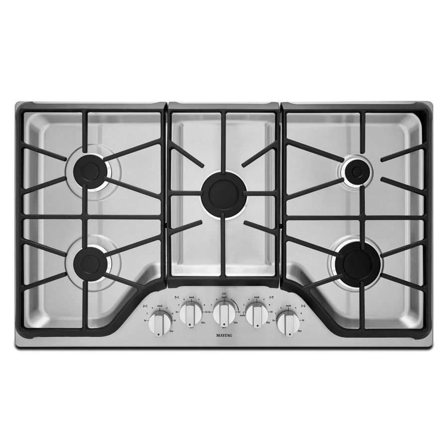 Maytag 5-Burner Gas Cooktop (Stainless Steel) (Common: 36-in; Actual: 36-in)