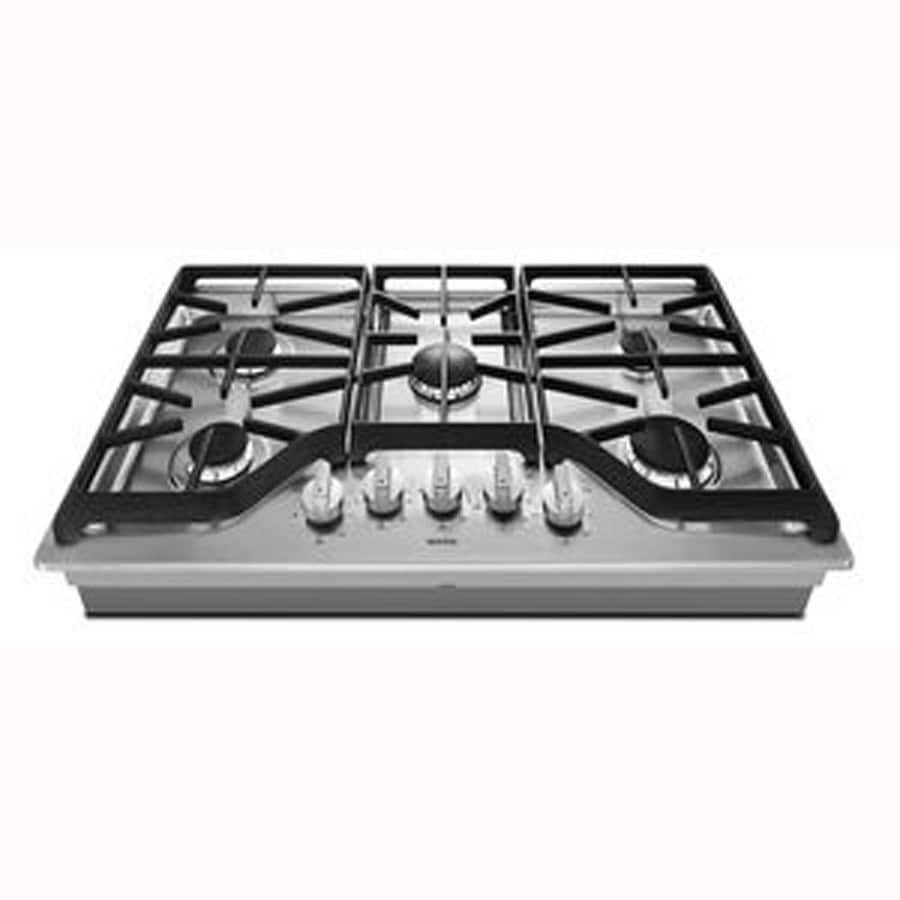 36 inch gas cooktop with downdraft - Maytag 5 Burner Gas Cooktop Stainless Steel Common 36 In