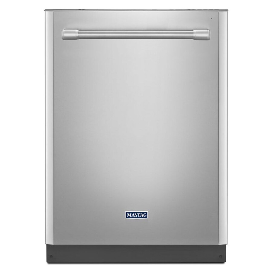 Maytag Mdb5969sdh 24 In 50 Decibel Built In Dishwasher: Maytag 50-Decibel Built-In Dishwasher With Hard Food