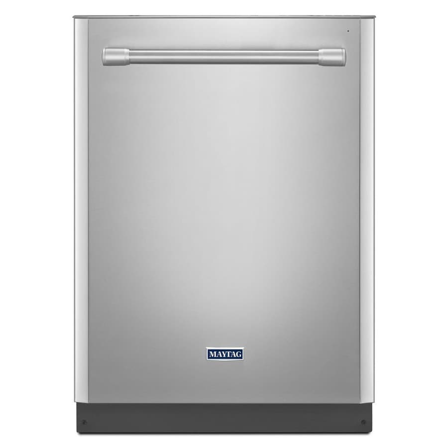 Maytag 47-Decibel Built-In Dishwasher (Monochromatic Stainless Steel) (Common: 24-in; Actual: 23.875-in)