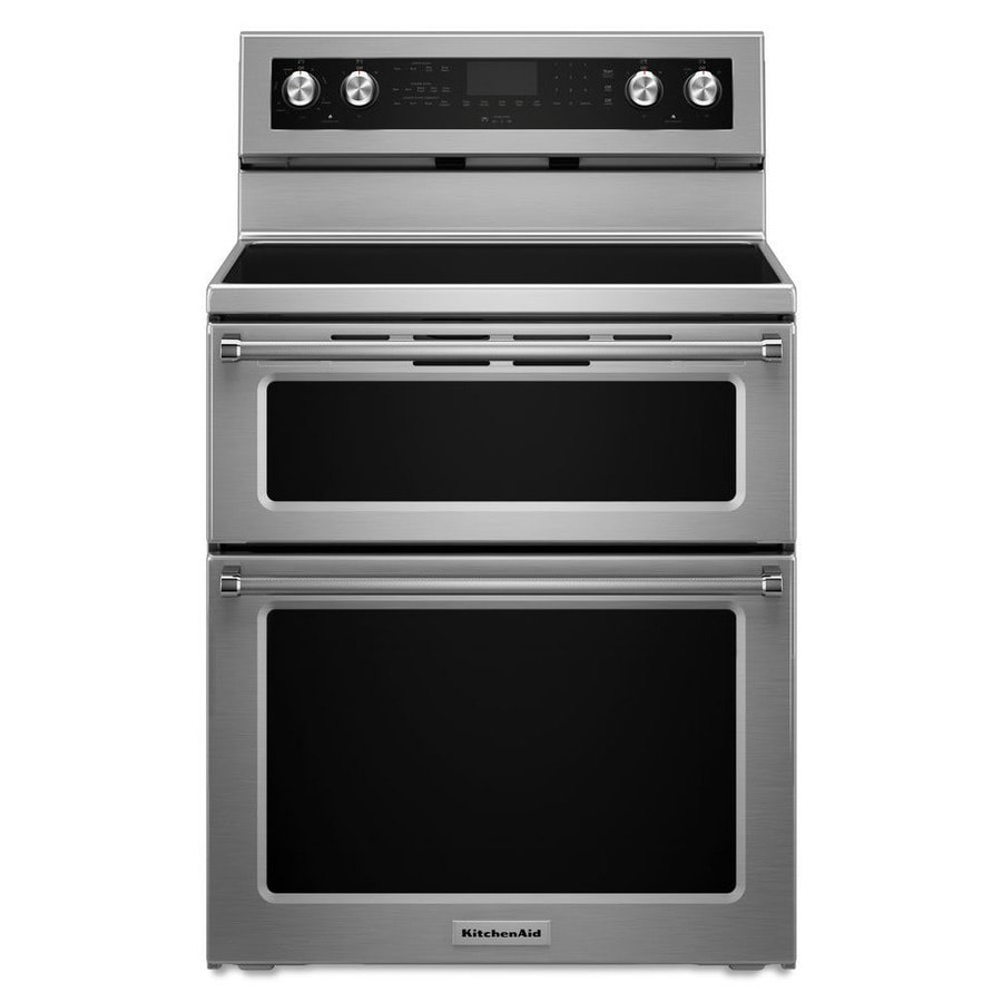 Double Oven Range ~ Shop kitchenaid in smooth surface element cu ft