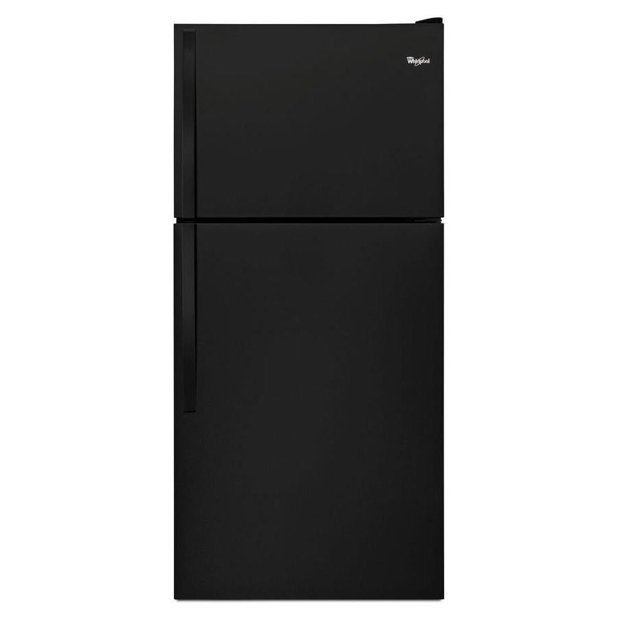 Whirlpool 18.2-cu ft Top-Freezer Refrigerator (Black)