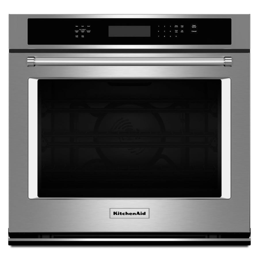 Kitchenaid Self Cleaning Convection Single Electric Wall Oven Stainless Steel Common