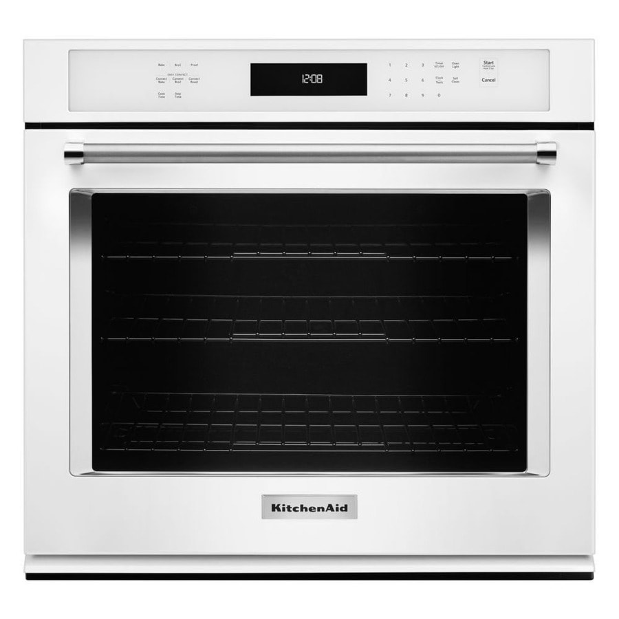 KitchenAid Self-cleaning Convection Single Electric Wall Oven (White) (Common: 30-in; Actual 30-in)